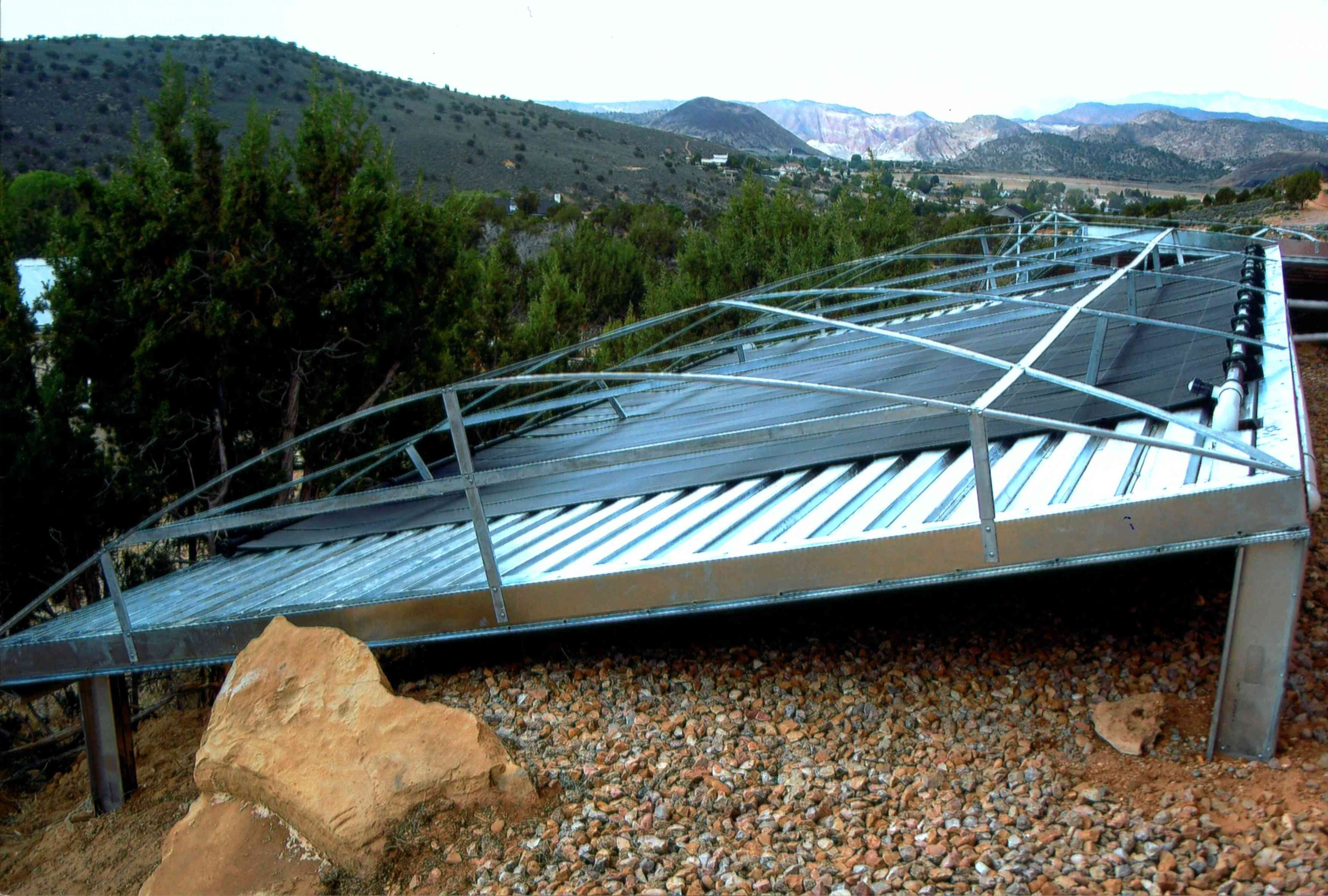 Photo galleries - Mountain - Solar Pool Heating Installtion