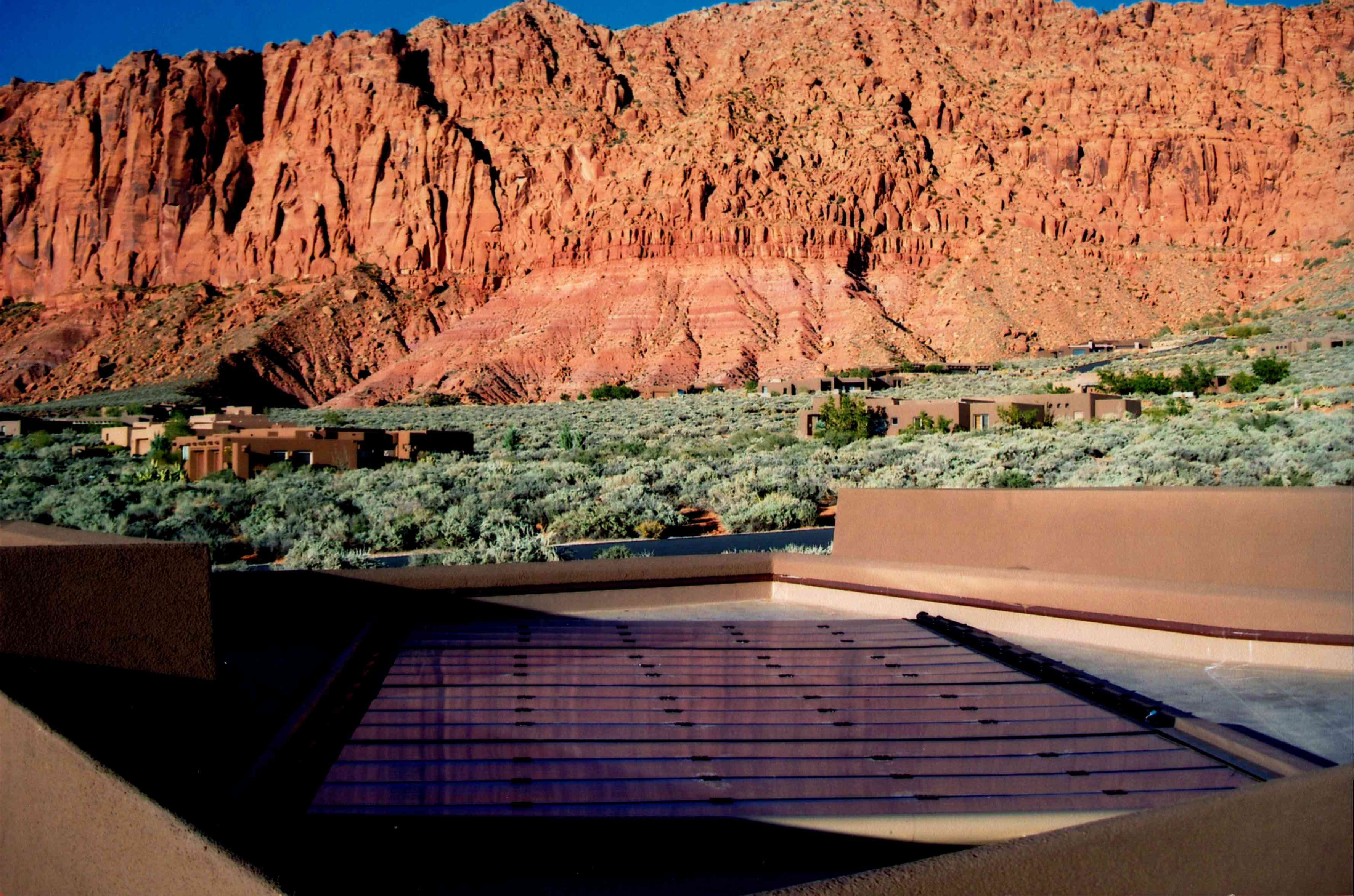 Photo galleries - Backyard Pool Solar Pool Heating Installation