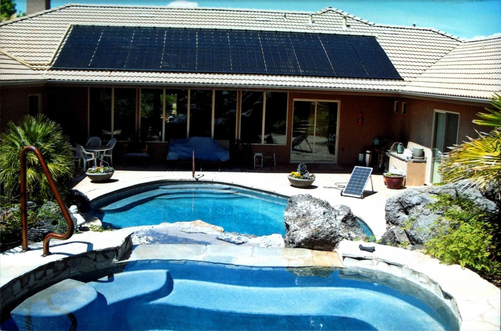 Backyard Pool Solar Pool Heating Installation