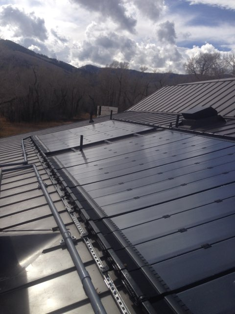 park city soalr pool heating install